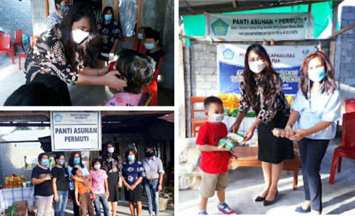 Panti Asuhan PERMUTI Minsel dapat Berkat dari Keluarga Kandouw-Tanos