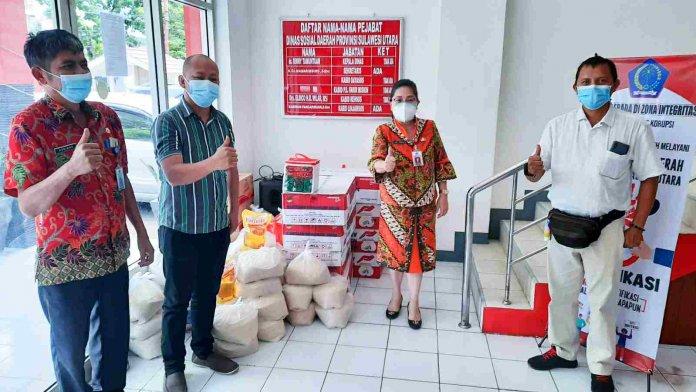Wartawan JIPS Dapat Bantuan Paket Sembako dari Dinsos Sulut