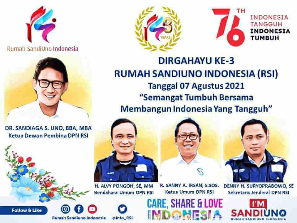 Sandiaga Uno Semangati RSI Terus Bergerak Untuk Indonesia Maju