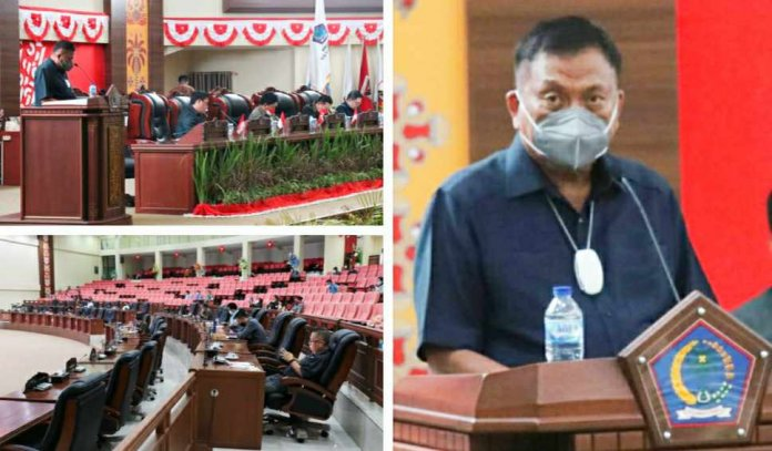 Gubernur Olly Sampaikan Rancangan Perubahan KUA dan PPAS APBD Sulut Tahun 2021