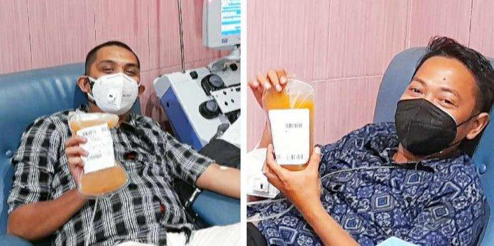 Fadly dan Dimas Donor Plasma Konvalesen