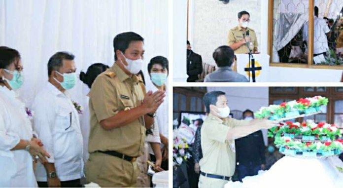 Wagub Kandouw Hadiri Ibadah Pemakaman Ibu Tetty Pepah-Paath