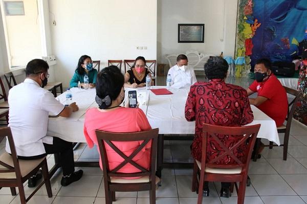 Gubernur OD Terima Pengurus Sinode AM Gereja-Gereja Sulutteng