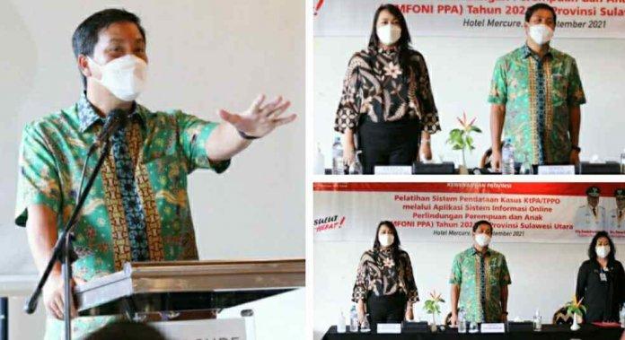 Pesan Wagub Kandouw DP3A Mampu Tekan Angka Kekerasan Perempuan dan Anak di Sulut