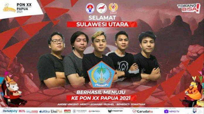 Kisah Tim Mobile Legends Sulut Lolos ke PON Papua 2021