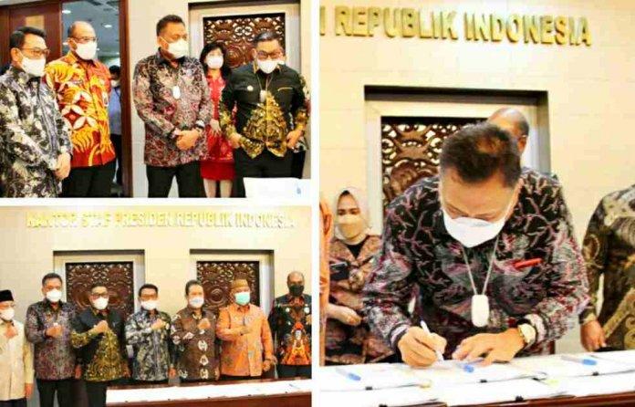 Gubernur Olly dan Lima Provinsi Intim Tandatangani PKS Sektor Kelautan dan Perikanan