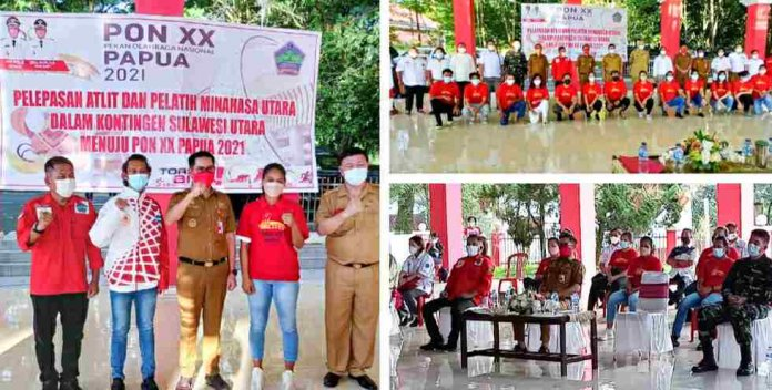 Bupati JG Lepas Atlit dan Pelatih Minut Menuju PON XX Papua