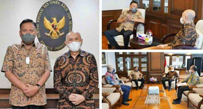Gubernur Olly dan Menkop UMKM Bahas Sulut Pilot Project Koperasi Nelayan