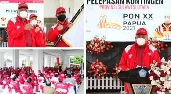 Gubernur Olly Janji Ratusan Juta Rupiah Peraih Medali di PON XX Papua