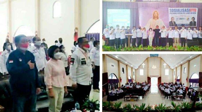 BP2MI Manado Sosialisasi Perlindungan PMI di Gereja Segala Bangsa Shaloom Taas