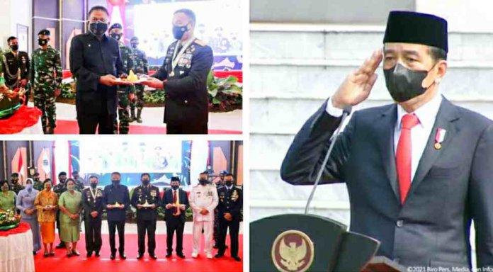 Gubernur Olly Hadiri HUT ke-76 TNI di Aula Grhadika Jayasakti Makodam XIII/Merdeka